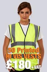 50 Printed Hi Vis Vests Deal