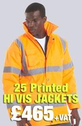 25 Printed Hi Vis Jackets Deal