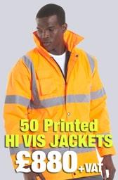 50 Printed Hi Vis Jackets Deal